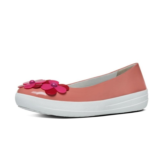 a2ca44903e35d8 NEW Fitflop F-SPORTY FLOWER Imi-Leather Ballet 8